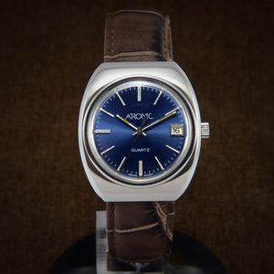 Atronic Time Zone Early Quartz Swiss Watch Tissot Cal.2030 From 1970s