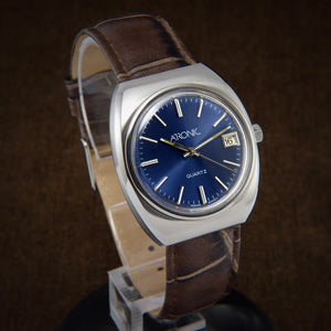 swiss watch, omega watch, nos watch, mens watch, longines watch, vintage watch, tissot watch, tissot 2030, certina watch, omega seamaster, atronic watch, atronic quartz, gmt watch, time zone calculator, 70s watch, rado watch, early quartz watch,