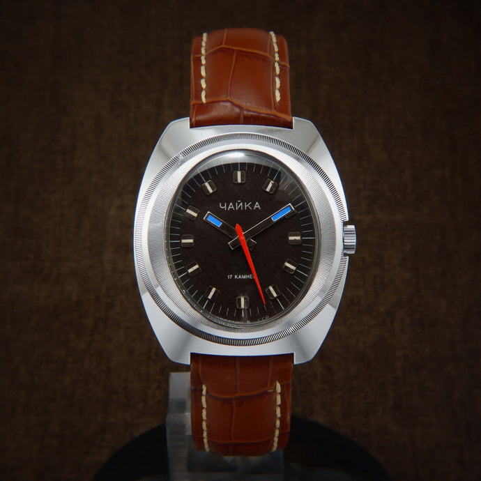 Chaika Oval Dial Soviet Space Era Watch From 70s