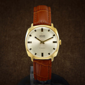 Gruen Precision Swiss Mens Watch From 1960s