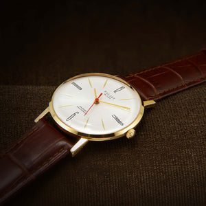 Poljot De Luxe Ultra Slim Soviet Mens Watch From 70s