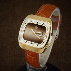 Poljot Rare TV Dial Early Soviet Quartz Watch From 70s