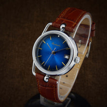 Load image into Gallery viewer, Raketa Art Deco Blue Dial Soviet Watch From 80s