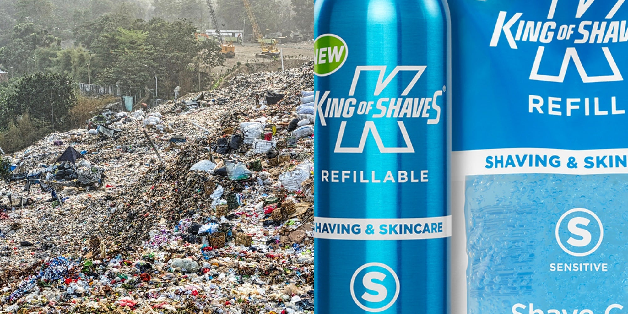 Zero Waste Week | Refill, Reduce, Recycle | Save 25% on King of Shaves® Refillables.