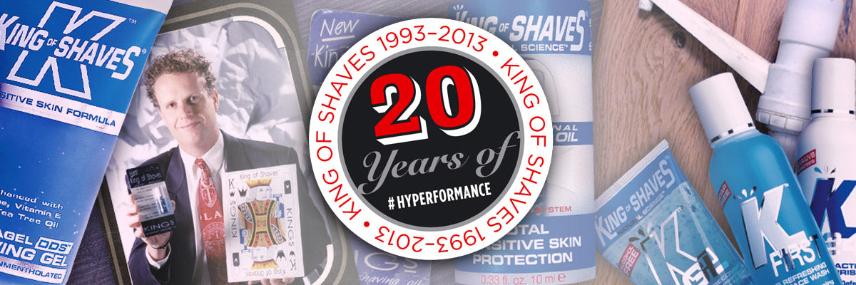 Celebrating 20 years of King of Shaves