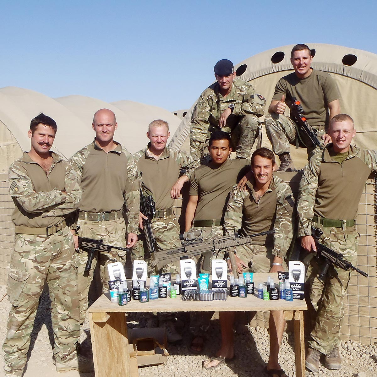 Counter IED Task Force with their King of Shaves