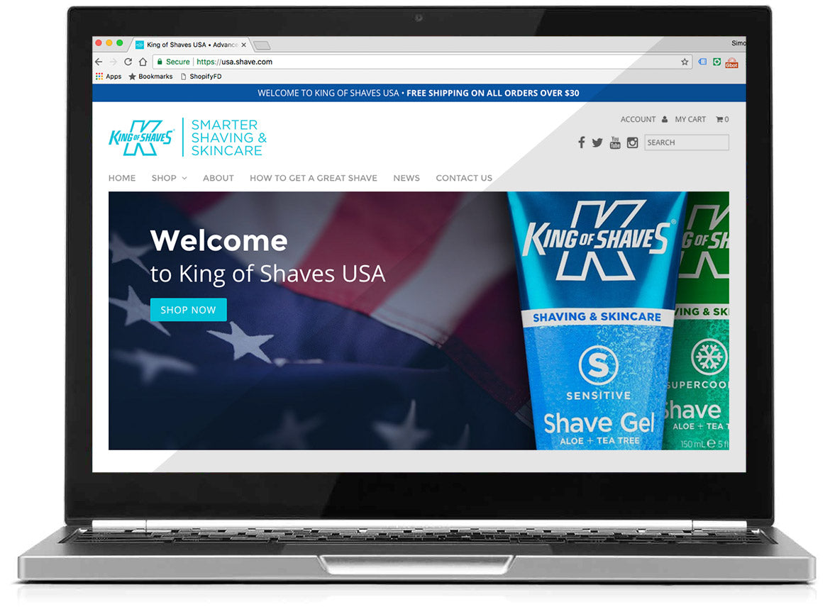 New USA online store for King of Shaves