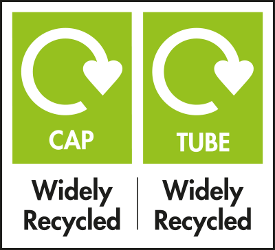 Cap Widely Recycled and Tube Widely Recycled