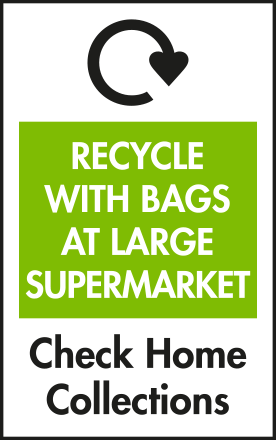 Recycle with carrier bags at larger supermarkets