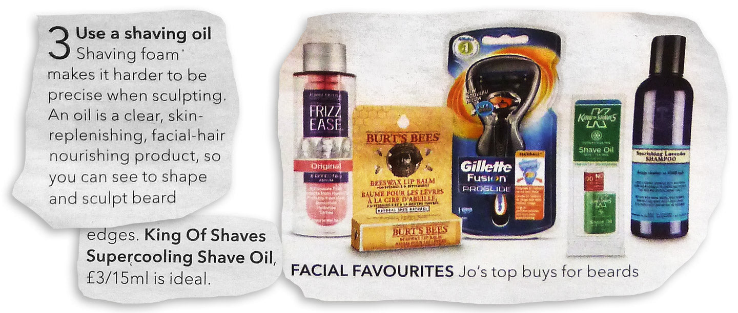 King of Shaves SuperCooling Shave Oil is recommended