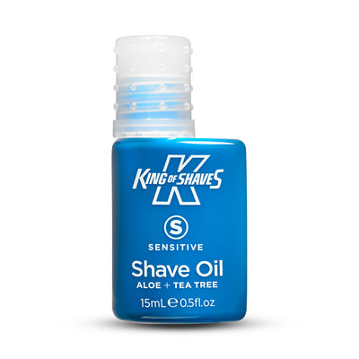 King of Shaves Sensitive Shave Oil (15ml) bottle