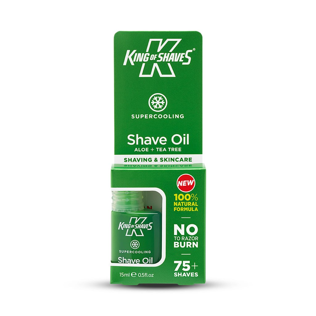 King of Shaves SuperCooling Shave Oil Natural (15ml)