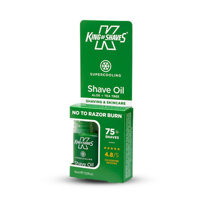 King of Shaves SuperCooling Shave Oil (15ml) Side
