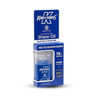 Advanced Sensitive Shave Oil (20ml) Carton Side