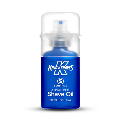 King of Shaves Advanced Sensitive Shave Oil bottle