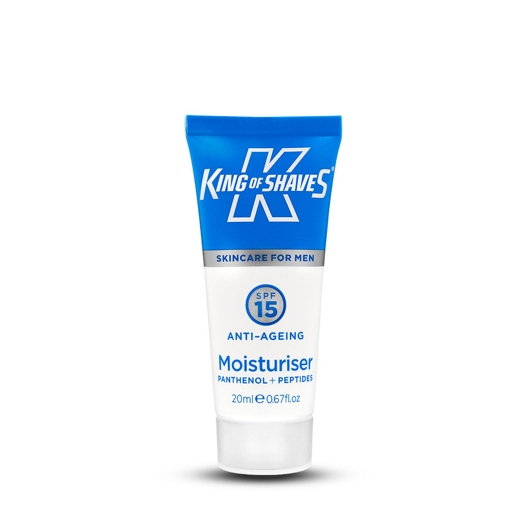 King of Shaves SPF15 Anti-Ageing Moisturiser Travel Mini (20ml)