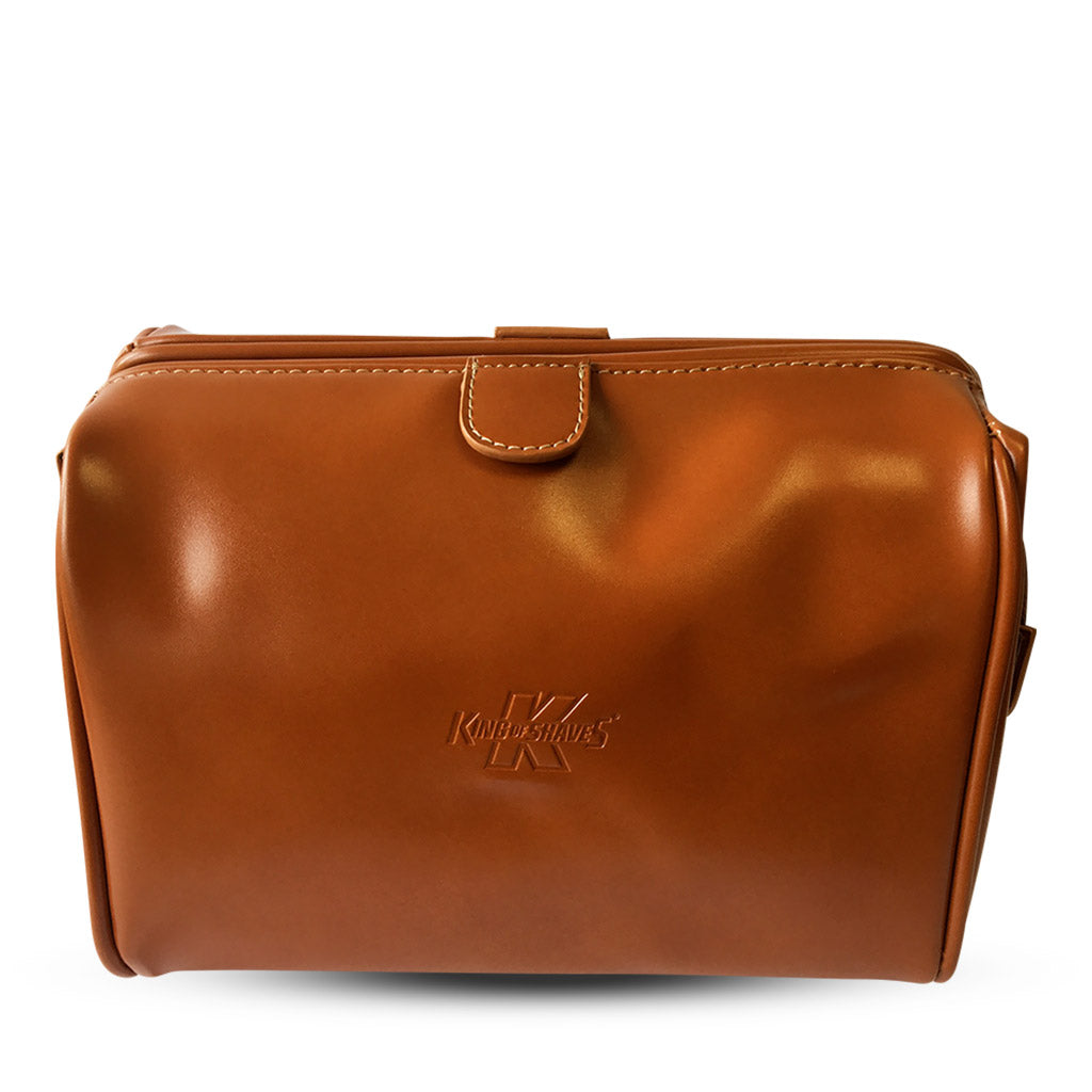 King of Shaves Toiletry Wash Bag (Tan)