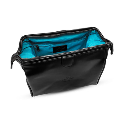 King of Shaves Toiletry Wash Bag (Black) side open