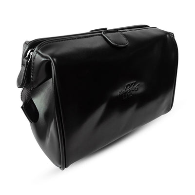 King of Shaves Toiletry Wash Bag (Black) side closed