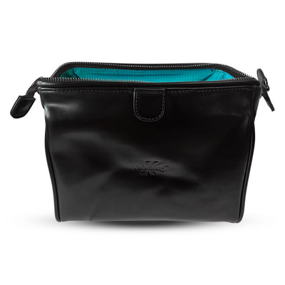King of Shaves Toiletry Wash Bag (Black) open
