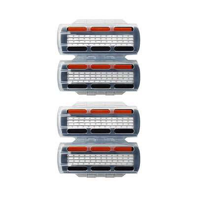 King of Shaves K4 Four Blade Cartridge Packs with Blade Guards