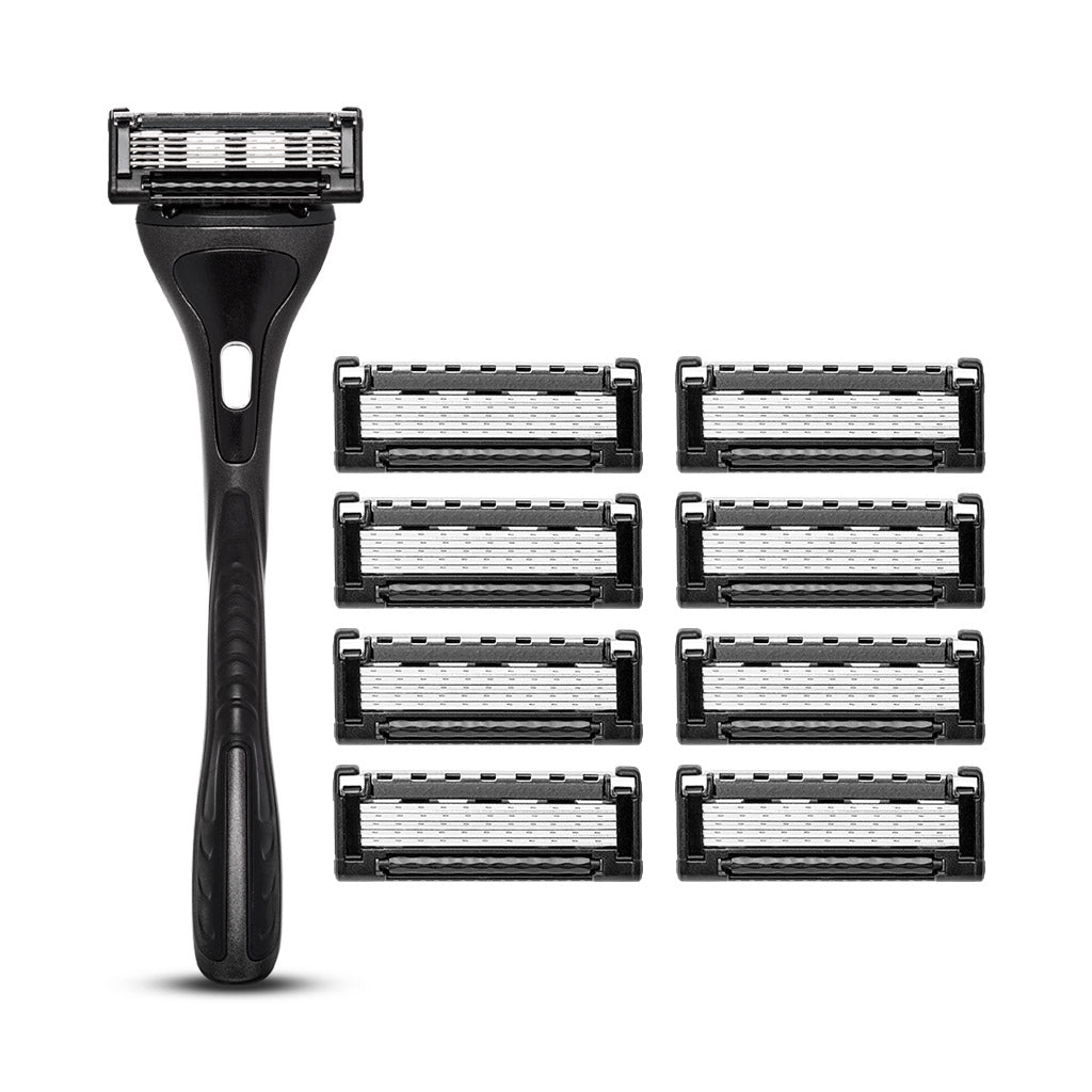 King of Shaves K5 Five Blade Razor & 8 Cartridges