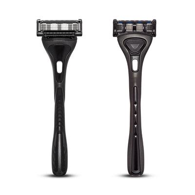 King of Shaves K5 Five Blade Razor handle front and rear