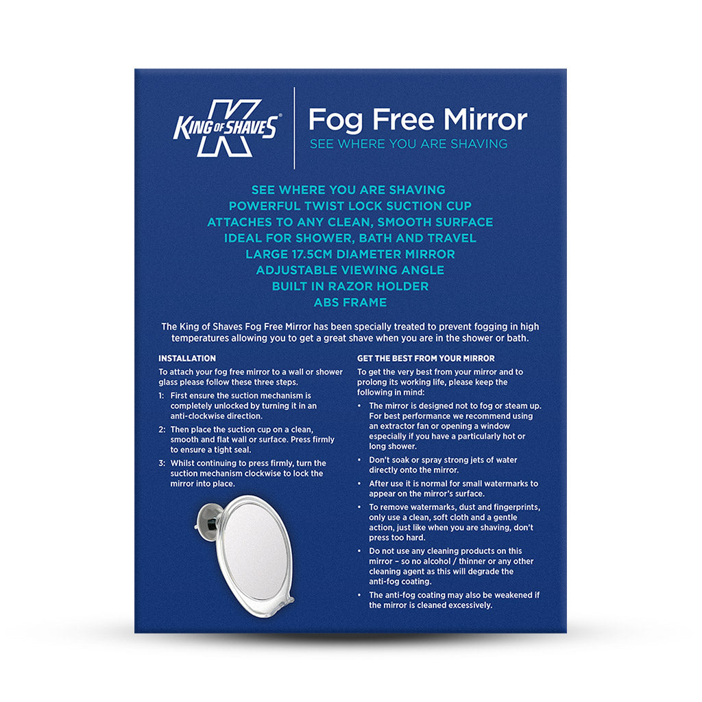Fog Free Mirror For Shaving King Of Shaves