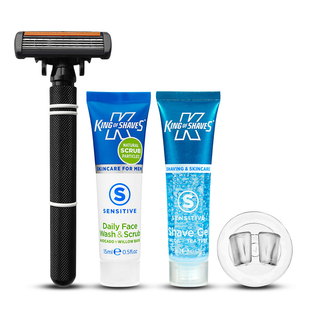 King of Shaves K4 Four Blade Razor Trial Set
