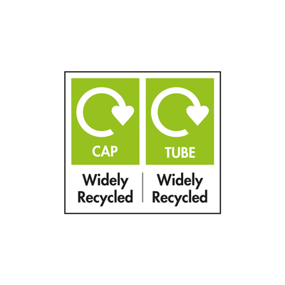 LDPE tube. PP Cap. Please recycle.