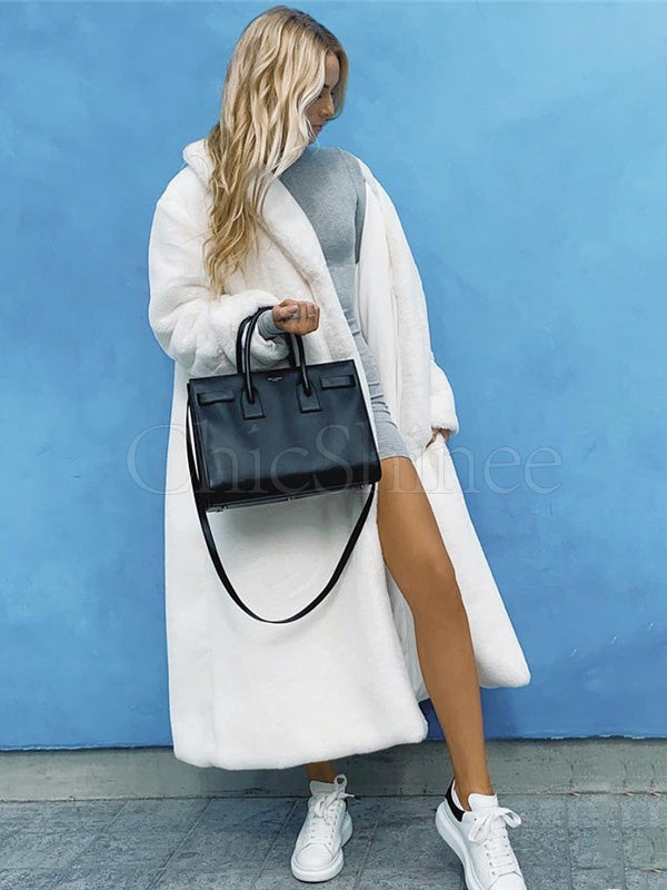 Fashion Solid Soft Long Coat