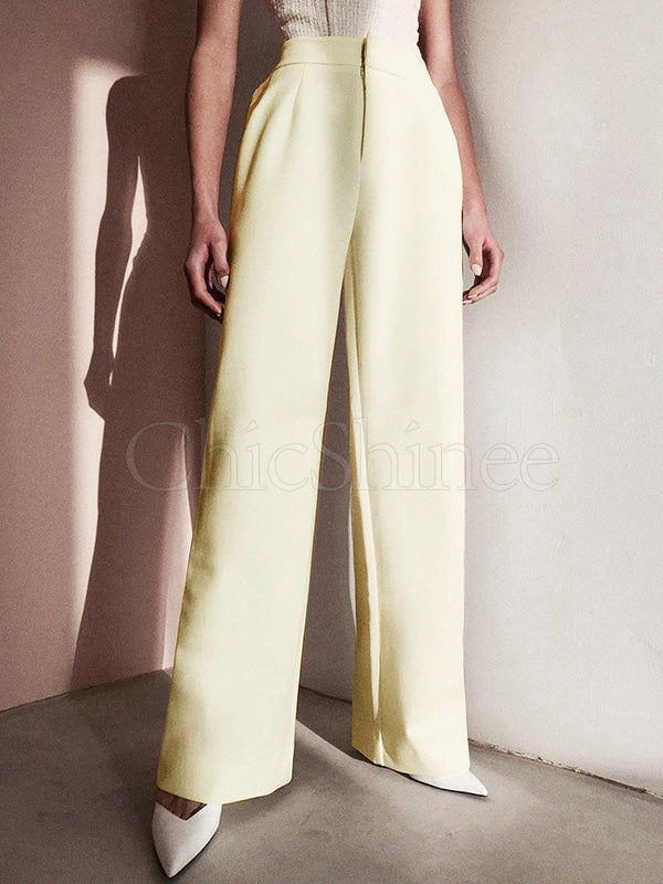 Simple Solid Color Casual Pants Bottoms