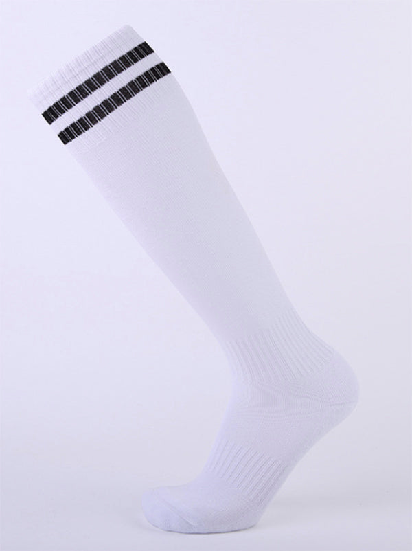 Striped Athletic Knee High Socks