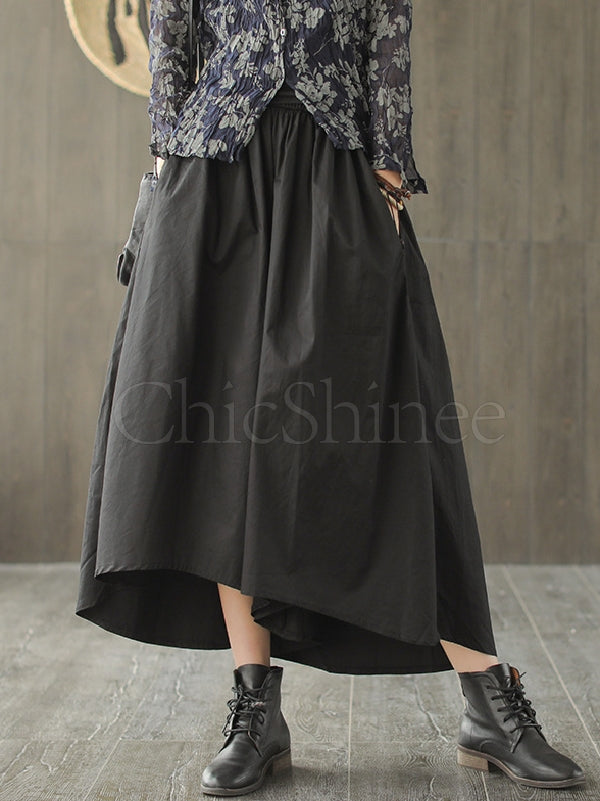 Loose Cropped Wide-leg Pants