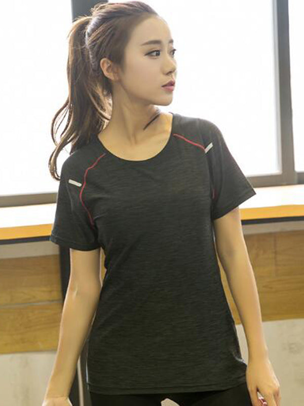 Short Sleeve Round Neck Sport Tees