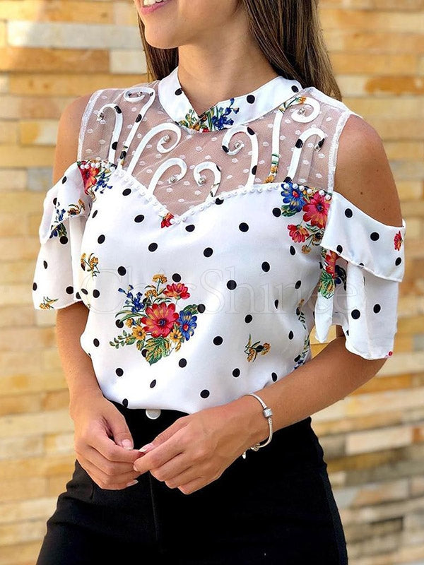 Pretty Polka Dot T-Shirts Tops