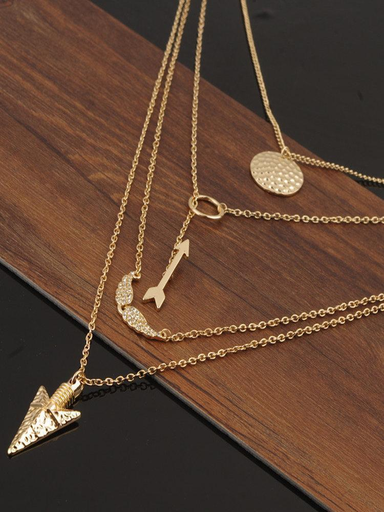Arrow&Angel Wing &Alloy Necklaces Accessories