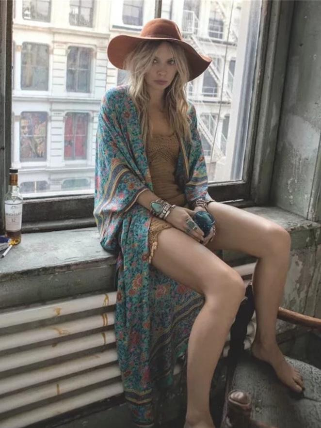 Blue Floral Bohemia Cover-up