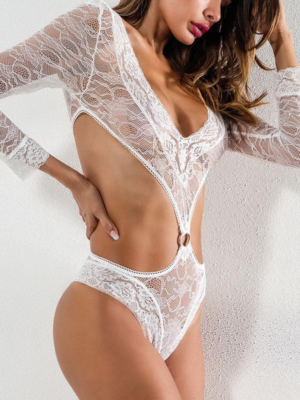 Long Sleeves See-through Sexy Lingerie