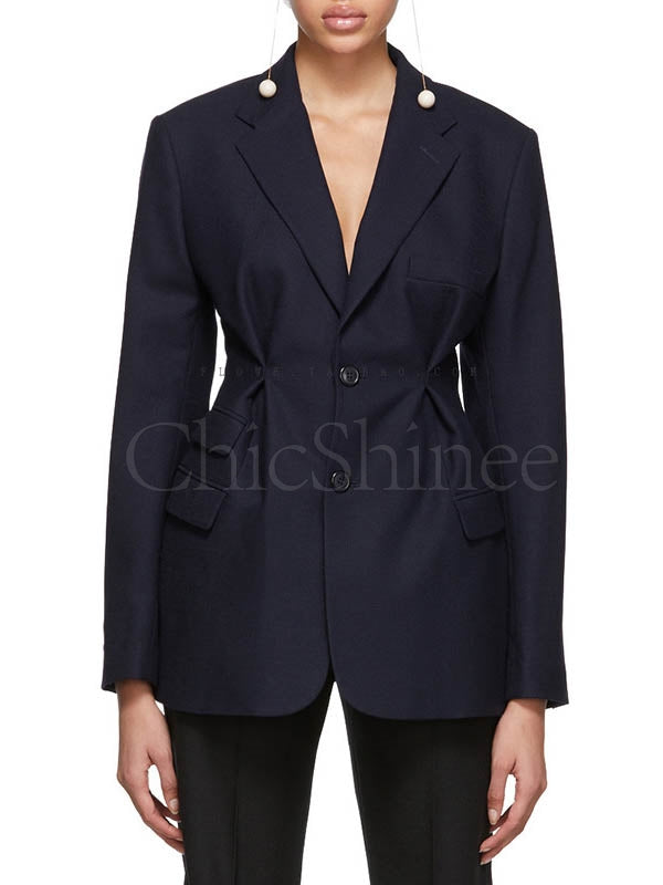 Fashion 2 Colors Solid Blazer Top