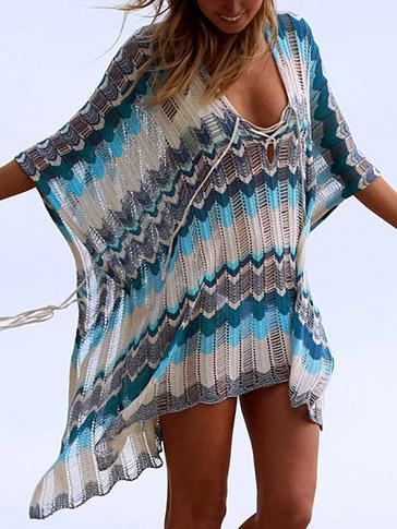 Plus Size Knitted Loose Cover-ups Tops