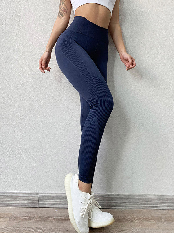 Quick-dry Solid Fitness Sports Leggings