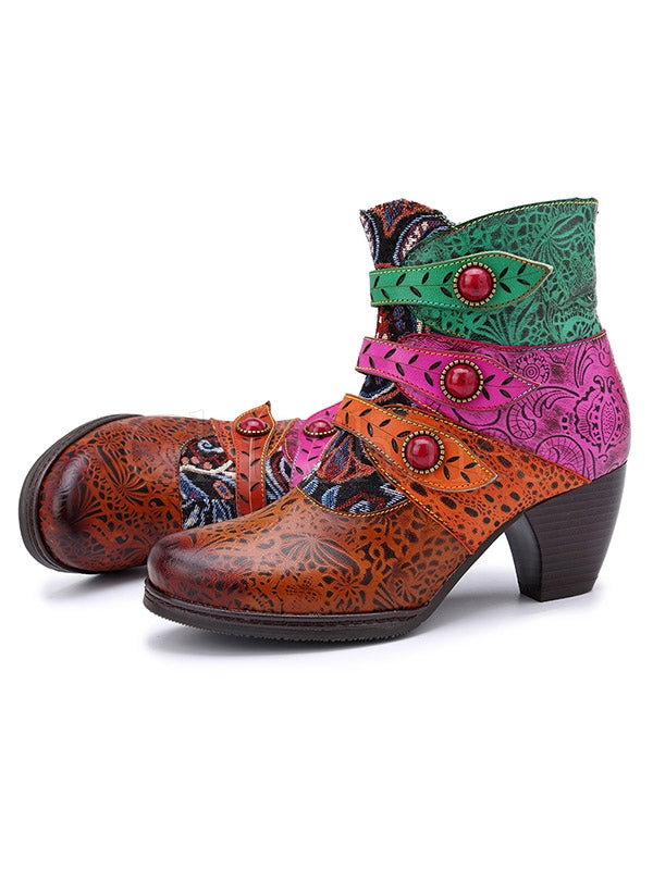 Jacquard Hand-Make Pirates Buckle Booties
