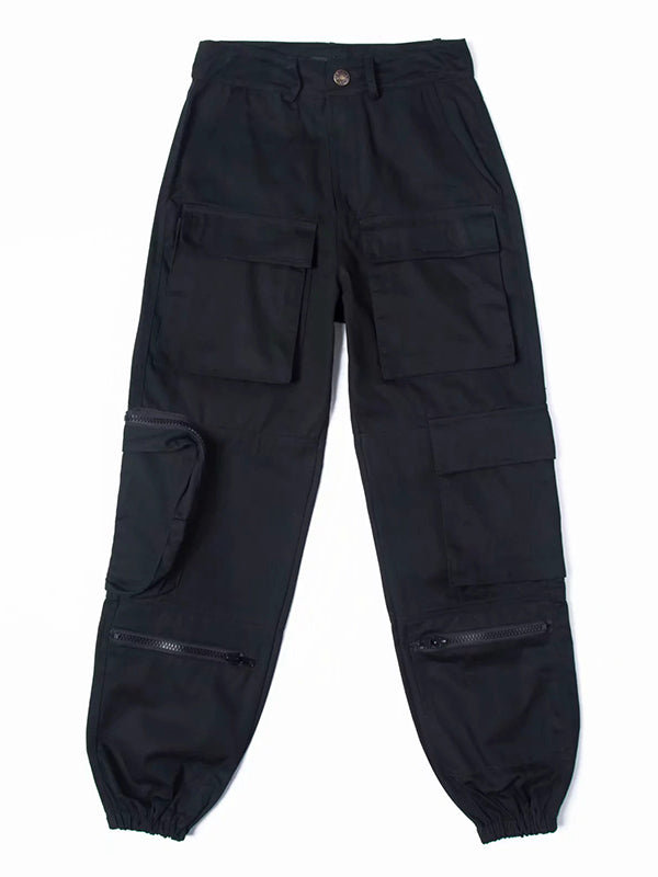 Fashion Ankle-tied Overalls Pants