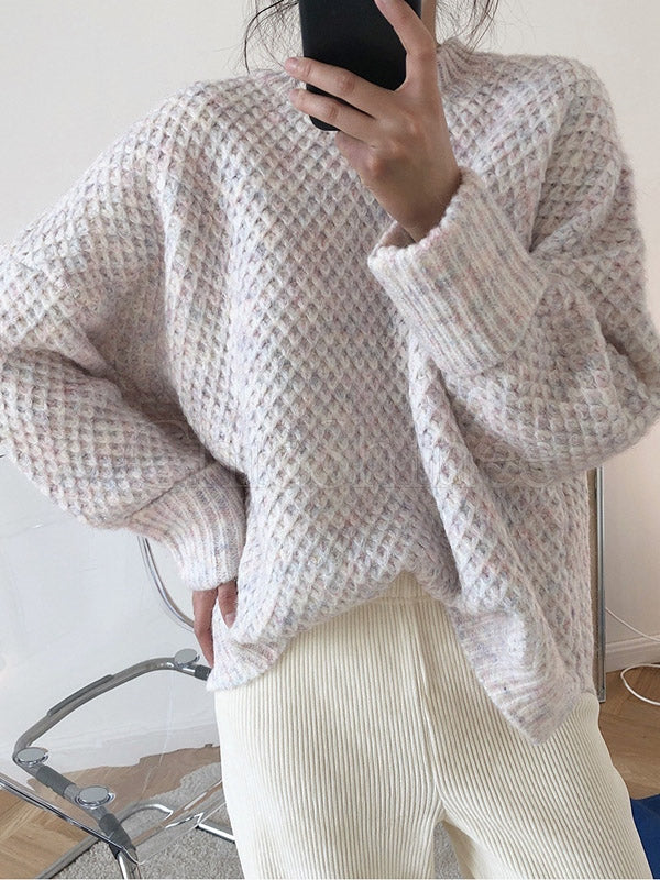 Loose Thickening Knitting Round Neck Sweater