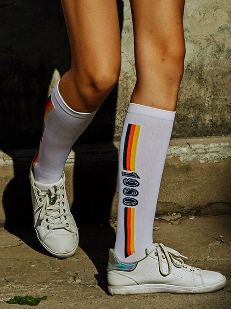 Athletic Printed Hose Socks