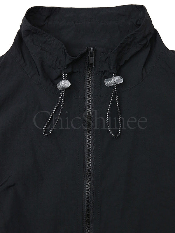 Casual Ruffled Lace-up Light Outwear