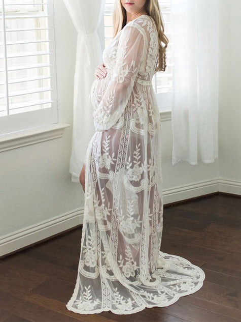 Maternity Hollow Lace Cover-up Swimwear