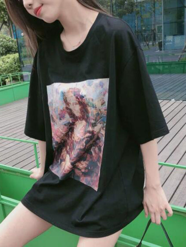 Printed Loose Casual Tees