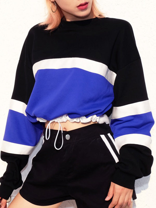 Long Sleeve Drawstring Sweatshirt